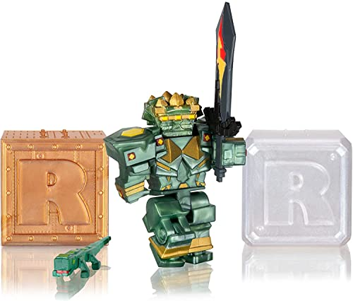 Amazoncom Roblox Toy Figures Playsets Toys Games Buy Roblox Action Collection Fantastic Frontier Guardian Set Two Mystery Figure Bundle Includes 3 Exclusive Virtual Items Toys R Us