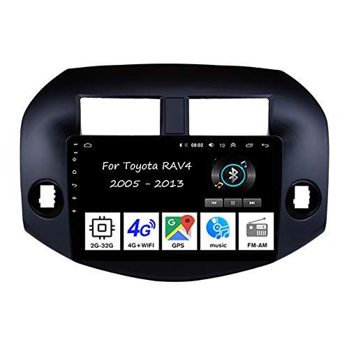 Autoradio Mit Navi Car Stereo Radio Coche Pantalla Tactil Coche GPS Navegación para Toyota RAV4 2005-2013 4 Cores 2G+32G Conecta Y Reproduce Cámara De Respaldo Estéreo De Coche Auto DVD Player