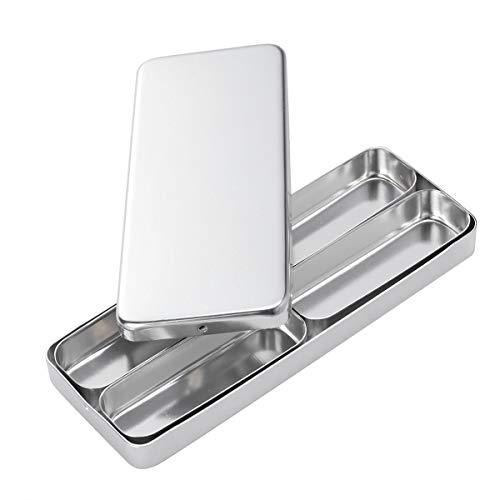SUPVOX Metall Dosen Rechteckig Box Edelstahl Mini Dental Medizinisches Chirurgische Instrumenten Box (Silber)