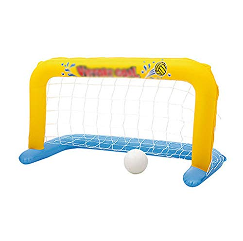 Nobranded Schwimmbecken Spiel, Schwimmendes Wasserballtor mit Ball, Aufblasbarer Wasserballkäfig für Erwachsene und Kinder, Schwimmendes Poolspiel