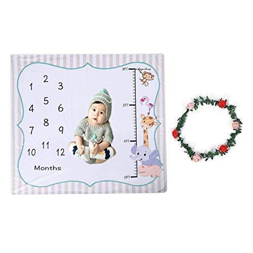赤ちゃん撮影シーツ はじめての誕生日 百の日写真 赤ちゃん月齢フォト ベビー寝相アート おくるみ 赤ちゃん毛布 ランケット ソフト 可愛い 飾り 新生児写真道具 誕生日 プレゼント 新生児 女の子 男の子 約120x120cm