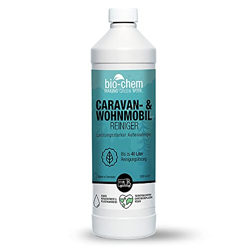 Bio-Chem Caravan- und Wohnmobil-Reiniger Konzentrat - 1000 ml - für Wohnmobile Wohnwagen Vorzelte Regenstreifenentferner