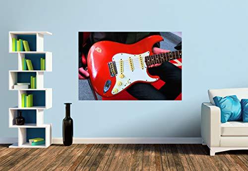 Premium Foto-Tapete E-Gitarre - Vintage Stratocaster (versch. Größen) (Size S | 186 x 124 cm) Design-Tapete, Wand-Tapete, Wand-Dekoration, Photo-Tapete, Markenqualität von ERFURT