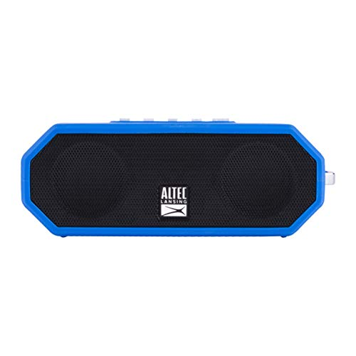 Altec Lansing Bluetooth Speaker, Wireless, Waterproof, Portable, Speakers, Loud Volume, Strong Bass, Rich Stereo System, Microphone, 10 Hour Battery, 100 ft Wireless Range, IP67, Rugged, Blue