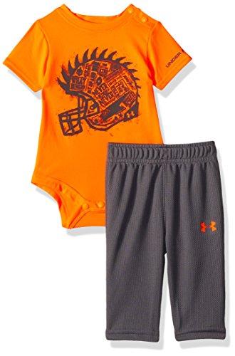 Under Armour Baby Boys' Never Retreat Set, Traffic Cone Orange (27C92057-87) / Cool Grey, 6-9 Months
