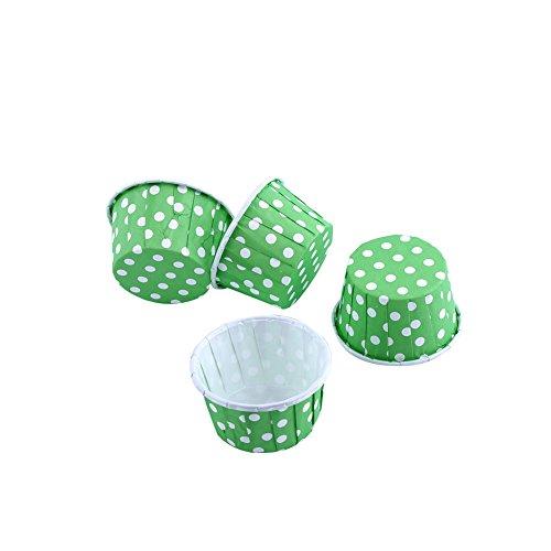 100 Stück Papierkuchen Cupcake Liner Fall Wrapper Muffin Antihaft-Backbecher für Urlaub Mini Party Hochzeit 8 Farben Sicher Lebensmittelqualität Kein Geruch Gebäck Muffin Formen Formen(Grün)