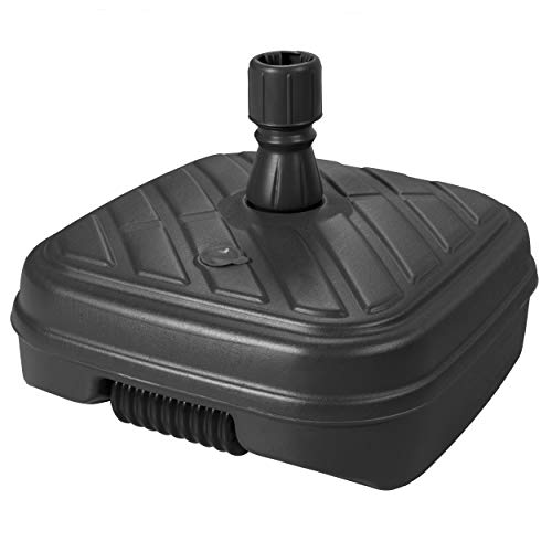 Doppler HDPE Füllsockel mit Rolle - Für Sonnenschirme bis 300 cm - Mit Sand oder Wasser befüllbar - Für optimale Stabilität - 48 Liter - Anthrazit