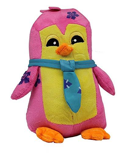 WildWorks knuffels van Animal Jam - Play Wild! Knuffels ca. 30 cm voor kinderen, meisjes en jongens, voor verzamelen en spelen (pinguïn, roze / geel)) (pinguïn)