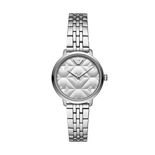 Emporio Armani Womens Analoog Quartz Horloge met RVS Band AR11213