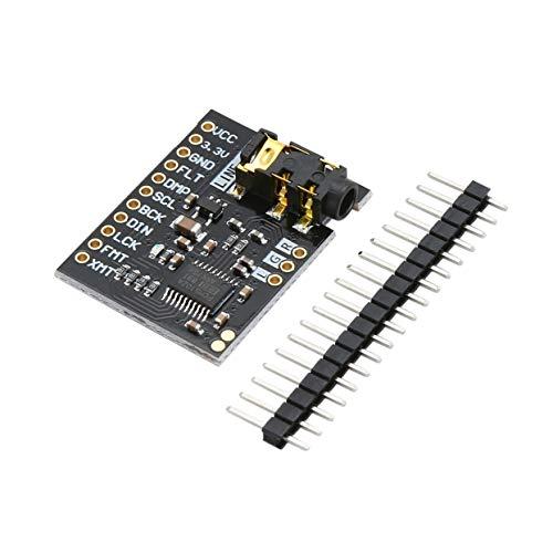 Tree-on-Life PCM5102 Tablero de Tarjeta de Sonido DAC Decodificador DAC pHAT Jack estéreo de 3.5 mm 24 bits Módulo de Audio Digital PLL Convertidor DAC A/D