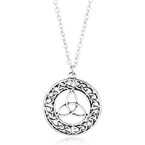 Accesorios de moda Cruz de la eternidad Trinity Libélula Símbolos Collar Colgante