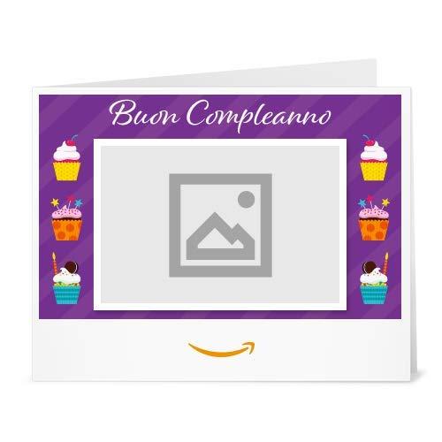 Buono Regalo Amazon.it - Stampa -Carica una foto - Cupcakes (Compleanno)