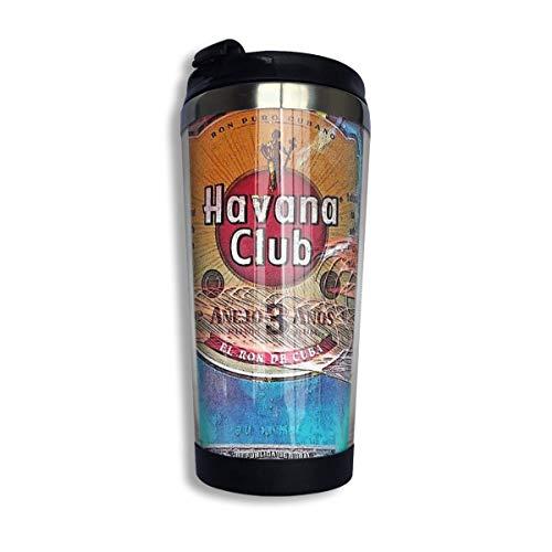 Hdadwy Edelstahl-Kaffeetasse aus rostfreiem Stahl - Havana Club Isolierte Vakuum-Becher aus rostfreiem Stahl 13.5oz Kaffee-Reisebecher
