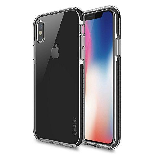 Capa protetora Impact Pro iPhone X/XS, TPU flexível nas extremidades e ajuda na absorção de impactos, Transparente/Preto, IPIXB, Geonav