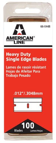 American Line 66-0448 Heavy-Duty Single Edge Razor Blades, 100-Pack