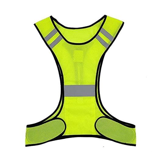 Chaleco reflexivo de alta visibilidad de alta visibilidad, chaleco reflectante, chaleco, chaleco fluorescente, chaleco adecuado para ciclismo de carrera nocturna (Color : A)