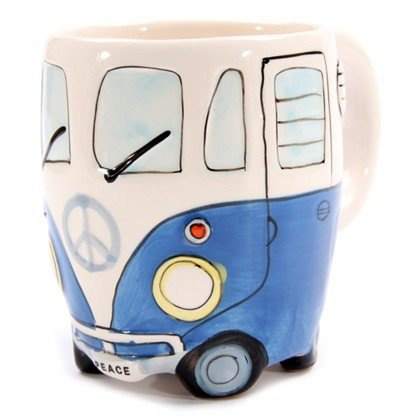 Wohnmobil Tasse in 4 versch. Farben, Farbe:blau