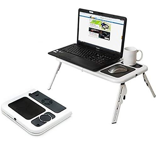 Multifunctioneel Schootbureau Bedlade Tafel Draagbare Computer Laptopstandaard Laptopstandaard Verstelbaar, Met Usb-Koelventilatoren Lichtgewicht Opvouwbare Set Voor Slaapbank
