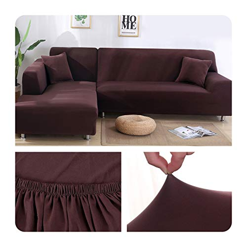 ZaHome Funda elástica de sofá para sala de estar, esquina en U, funda de sofá todo incluido, fundas de sofá en forma de L necesitan comprar 2 piezas - 011-2 plazas y 3 plazas