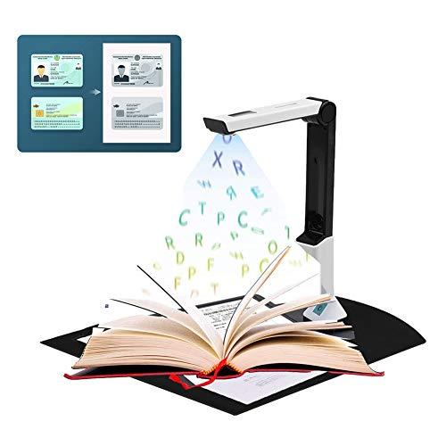 Dokumentenkamera, Tragbarer High Definition Dokumentenscanner, Scanner A4, Englische Artikelerkennung, USB,Leistungsstarke Software