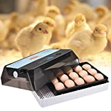 S SMAUTOP Incubatrice Automatica per 15 Uova Controllo Automatico di Temperatura, per Gallina, Anatra, Quaglia, ecc