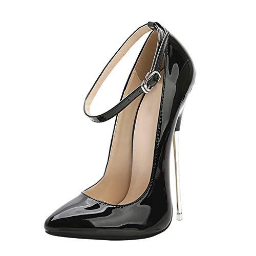 Yudesun Scarpe Donna Decolte Classiche - Tacchi Alti Scarpe col Tacco a Punta Eleganti Festa Moda Sexy Décolleté Super Alta Scarpe a Spillo 16CM