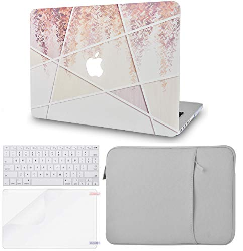 LuvCase 4in1 LaptopCase for MacBook Air 13 Inch(2020) A2179 Retina Display (Touch ID)HardShellCover, Sleeve, Keyboard Cover & Screen Protector (Fall Wood Pattern)