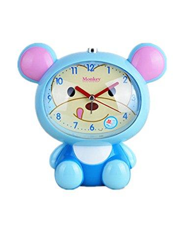 YAzNdom Leuke kleine aap wekker Kleurrijke kleine klok alarm Student cartoon wekker