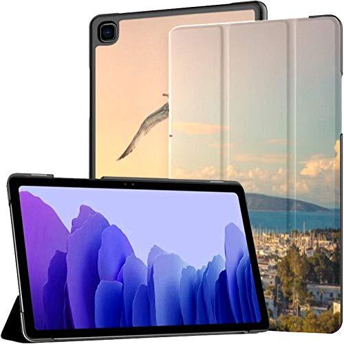 Funda para Samsung Galaxy Tab A7 Tablet de 10,4 Pulgadas 2020 (sm-t500 / t505 / t507), Marine Landscape Yachts Bodrum Harbour Seaside Funda con Soporte de múltiples ángulos con activación/suspensió