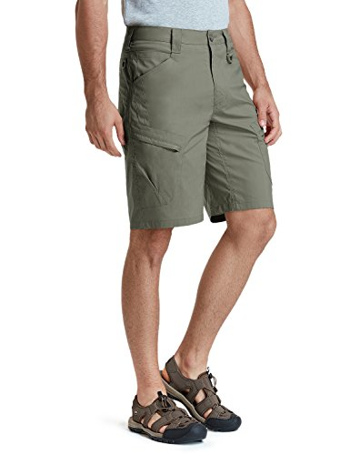 CQR Mens Hiking Tactical Shorts, Quick Dry Fishing Shorts, Lightweight Outdoor Rip-Stop EDC Assault Cargo Short, Urban Tactical Driflex(txs410) - Olive, 38