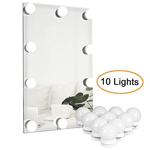 Waneway Hollywood LED Spiegelleuchte, Schminktisch Beleuchtung, Schminklicht für Spiegel, Lampe mit Dimm-Funktion, Spiegel Nicht...
