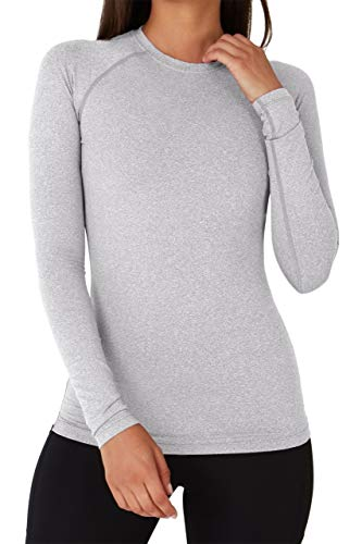 TCA SuperThermal Baselayer Damen Laufshirt/Funktionsshirt - Langarm - Marl Grey (Grau), M