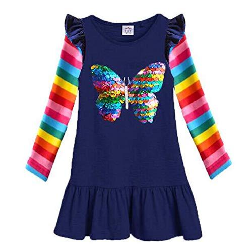 VIKITA Mädchen Kleider Sommer Baumwolle Kinder Kleid EINWEG LH5880 6T