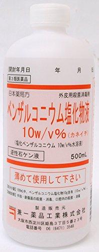【第3類医薬品】ベンザルコニウム塩化物液10%(カネイチ) 500mL