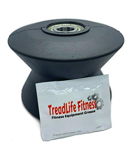 TreadLife Fitness Elliptical Wheel - Works on Proform 20.0 Cross Trainer - Part Number 238880 - Comes with Free Bearing Grease $10 Value!