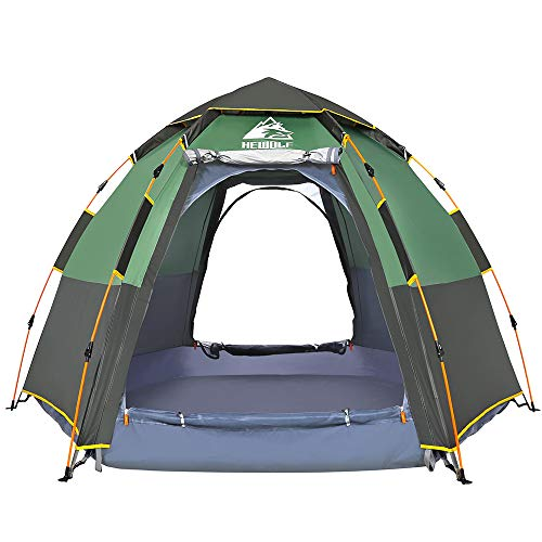 Hewolf Waterproof Instant Tents for Camping - 2-4 Person Easy Setup Dome Family Tent