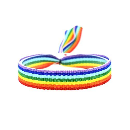 BDM Pulsera Bandera LGBTI arcoíris, es Unisex y Ajustable para revindicar tu Orgullo. Pride Gay, Lesbiana, Bisexual y Trans