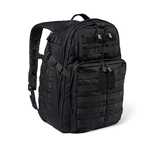 5.11 Tactical Backpack – Rush 24 2.0 – Military Molle Pack, CCW and Laptop Compartment, 37 Liter, Medium, Style 56563 – Black