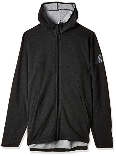 adidas Originals Herren Fleece Prime Hoodie Kapuzen-Sweatshirt, Carbon/Black, M