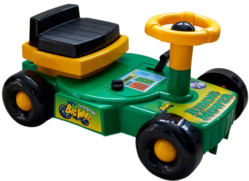 Back Bay Play Original Big Wheel Riding Mower Green Scooter Clicker for Kids - Cruiser Ride-on Toys for Boys & Girls -Toddlers and Kids 1 to 4 Years of Age - Durable Indoor/Outdoor Toys - Made in USA