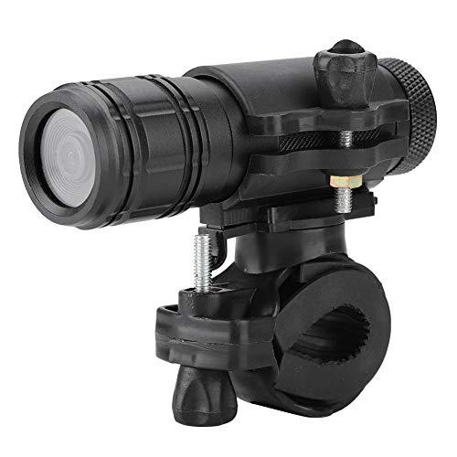 Fdit Cámara de acción, grabadora DVR 720P 30fps con 8MX, cámara de grabación en Bucle Impermeable para vehículos, Casco de Motocicleta, Incluye Soporte para la Cabeza