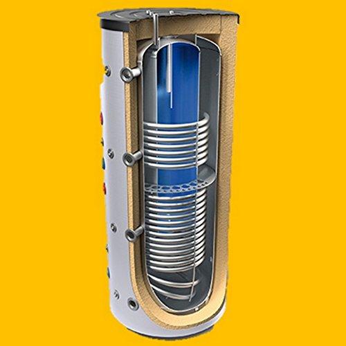 Kombipufferspeicher Brauchwasserspeicher ohne Wärmetauscher oder mit 1 oder 2 Wärmetauscher und 150/200/300 Liter Brauchwasser in den Größen 600 800 1000 1500 Liter