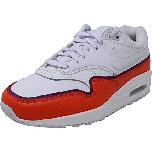 Nike Damen WMNS Air Max 1 Se Leichtathletikschuhe, Mehrfarbig (White/White/Team Orange/True Berry 000), 40.5 EU