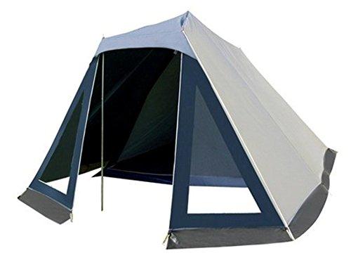 Familien Zelt für 4 Personen mit 2 PVC Fenstern und Vorzelt