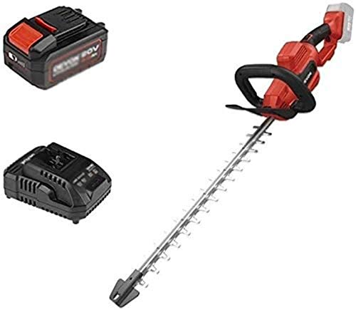 Rotary Mowers Cordless Electric Shearer Hedge Trimmer Electric Hedge Trimmer Multi-Function Tooth Pitch 2.5cm Overall Blade Length 55cm (Size : 4.0Ah one charge one charge)