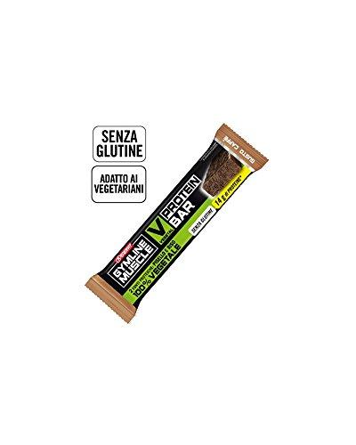 Enervit Gymline Muscle V Pro Bar Barretta Proteica Vegetale Gusto Caffè, Box 25 pz da 60 g