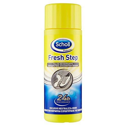 Scholl Talco Deodorante per Scarpe e Piedi, 24 h Azione Antiodori, 75 g