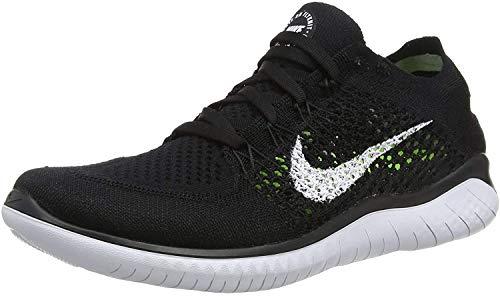 Nike Womens Free RN Flyknit 2018 Running Shoes (9.5 B(M) US) Black/White