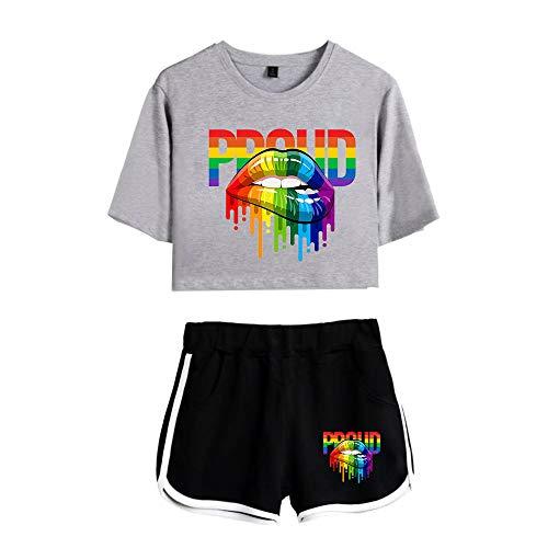LGBT Survêtement Sport Fille Tenue denastique Femme 2...