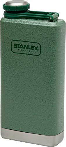 Stanley Adventure großer Flachmann, 0.23 L, Hammertone Green, 18/8 Edelstahl, Auslaufsicher, mit Deckelsicherung